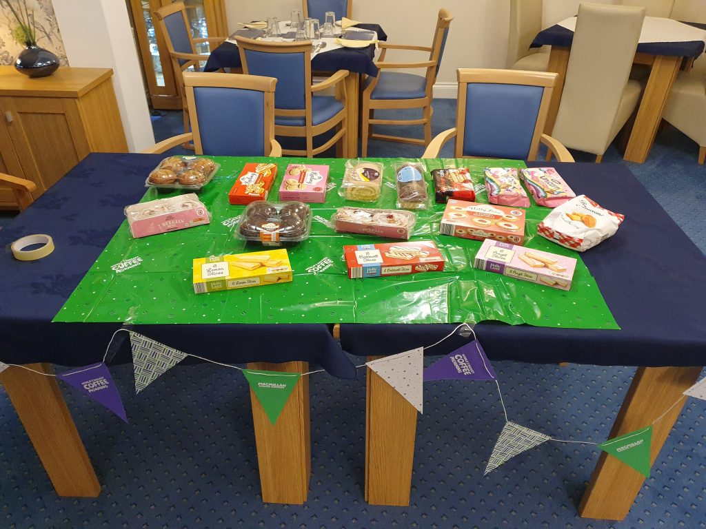 Macmillan coffee morning at Links View