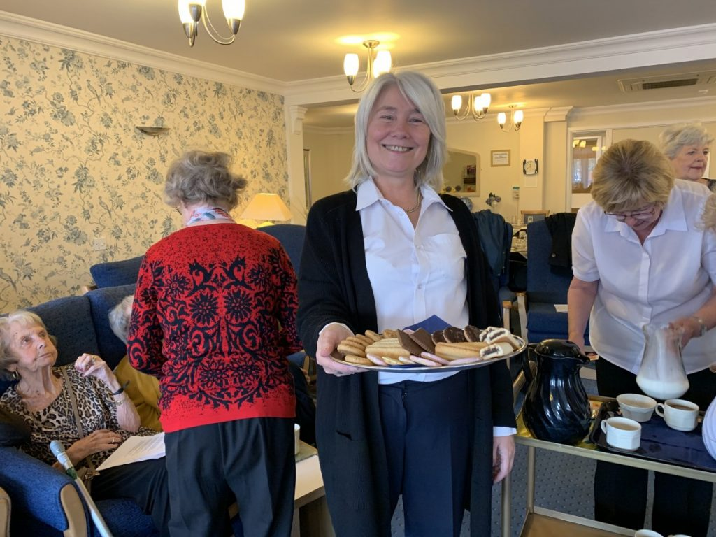 Biscuits with coffee at Links View Independent Living