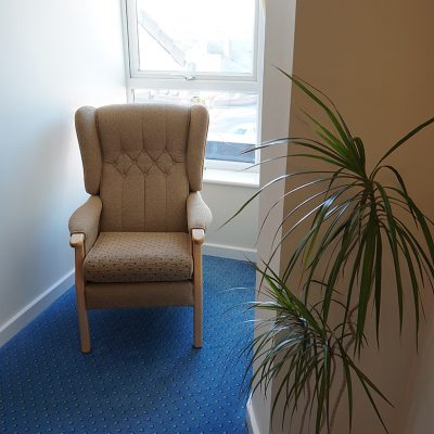 Chairs conveniently placed in corners where you can enjoy a breather