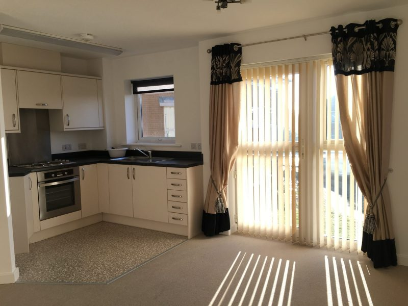 One of the open plan kitchens/lounges at Links View